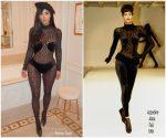 Kim Kardashian In Vintage Azzedine Alaïa Out In Paris