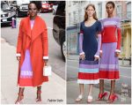 Lupita Nyong'o In Prabal Gurung & Bande Noir @  The Late Show with Stephen Colbert