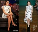 Mandy Moore In Andrew Gn @ Jimmy Kimmel Live!
