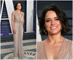 Michelle Rodriguez In  Jenny Packham @ 2019 Vanity Fair Oscar Party