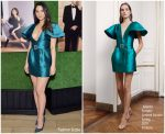 Olivia Munn In Alberta Ferretti Limited Edition @ The Hollywood Reporter And Jimmy Choo Power Stylists Dinner