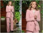 Olivia Wilde In Bella Freud @ The Ellen DeGeneres Show