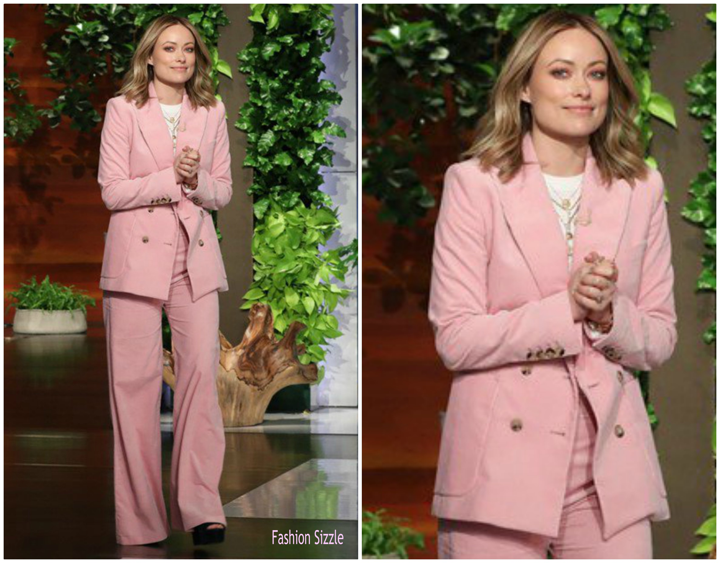Olivia Wilde In Bella Freud The Ellen Degeneres Show Fashionsizzle