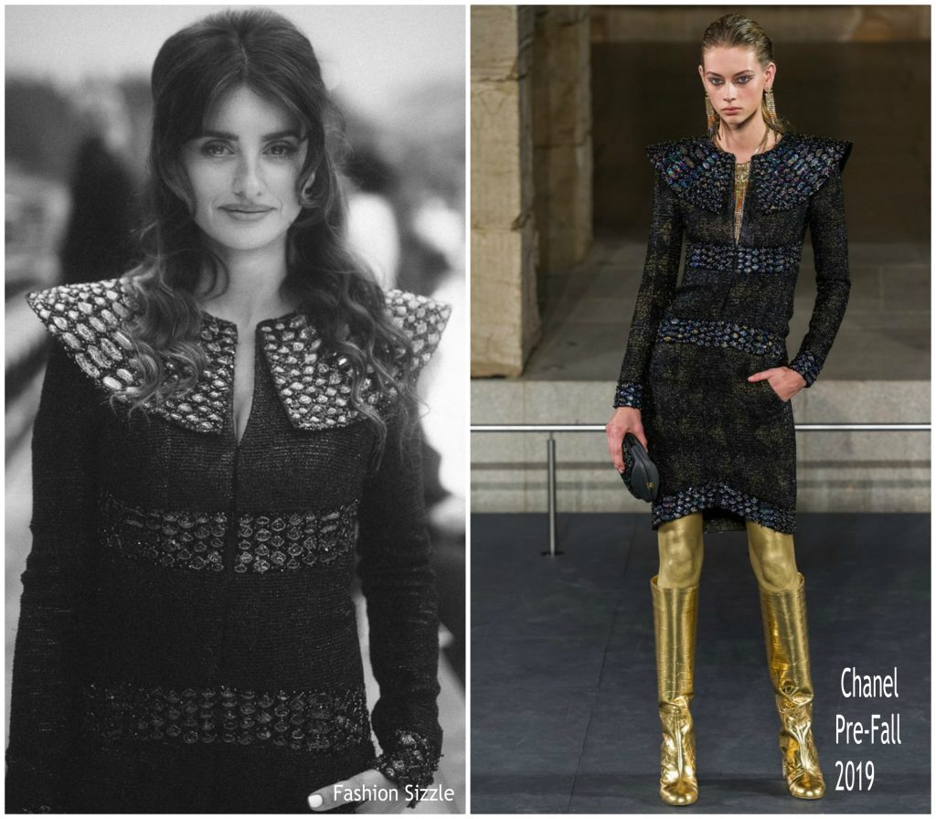 Penelope Cruz Walks Chanel Fall Winter 2019 2020 Show Fashionsizzle