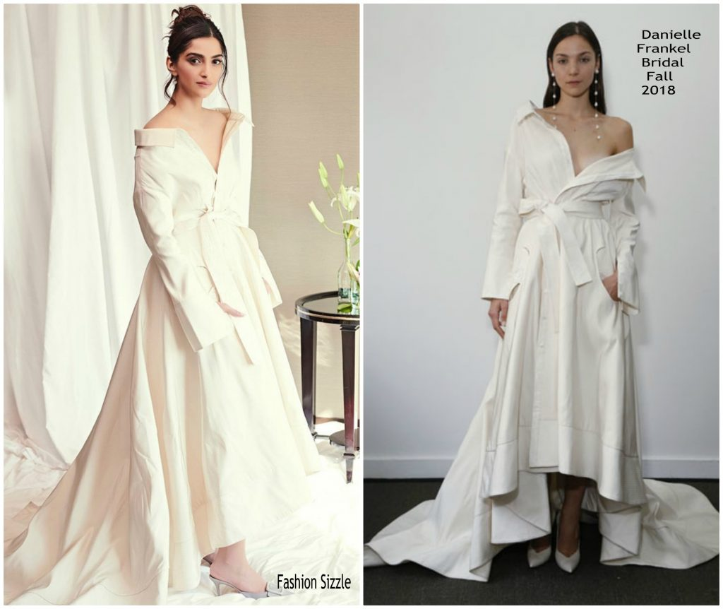c5736e6f53 At the event Chopard event Soman Kapoor wore Danielle Frankel Lou gown from  the designers Fall 2018 collection.