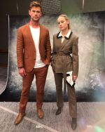 Chris Hemsworth & Brie Larson @  'Avengers: Endgame' Press Day