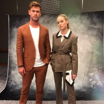 chris-hemsworth-&-brie-larson-@-'avengers:-endgame'-press-day