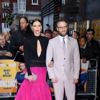 charlize-theron-(in-givenchy-haute-couture)-and-seth-rogen-(in-paul-smith)-@-'long-shot'-london-premiere