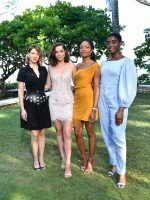 Léa Seydoux (in Louis Vuitton), Ana de Armas (in Rasario), Naomie Harris (in Cushnie) and Lashana Lynch (in Emilia Wickstead) @ Bond 25 Launch in Jamaica
