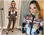 Lily James In  Burberry @  'Yesterday' Press Day