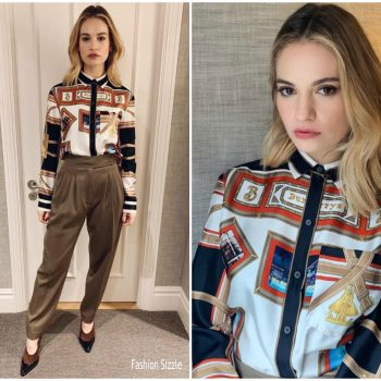 Lily-James-In-Burberry-Yesterday-Press-Day