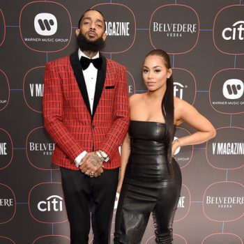 nipsey-hussle-lauren-london-arrive-warner-music-group-pre-grammy-celebration-2019