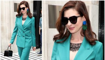 anne-hathaway-in-gabriela-hearst-the-hustle-bbc-radio-two-in-london