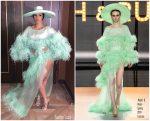 Cardi B  In Ralph & Russo  Couture @ Kaos Dayclub & Nightclub Opening In Vegas