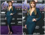 Elizabeth Olsen In Alexandre Vauthier @   'Avengers: Endgame' LA Premiere