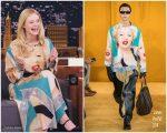 Elle Fanning In Loewe @ The Tonight Show Starring Jimmy Fallon