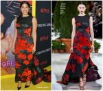 Gina Rodriguez In  Oscar de la Renta @ 'Someone Great' Netflix Screening