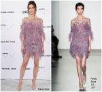 Hilary Rhoda In Pamella Roland  @   Whitney Museum Of American Art Gala + Studio Party