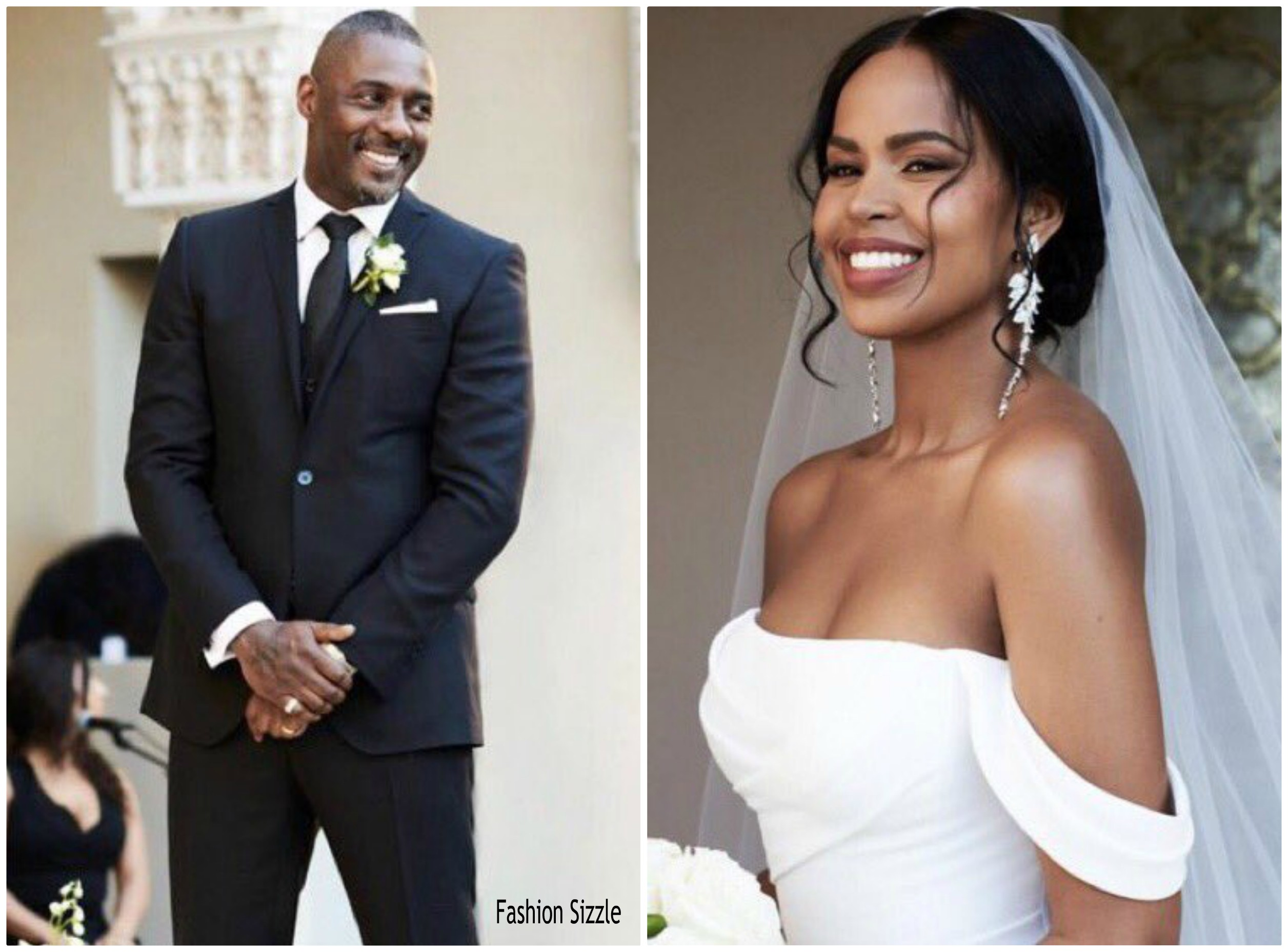 54ac9c84e Idris Elba Married Sabrina Dhowre In Vera Wang Gown @ Moroccan Wedding