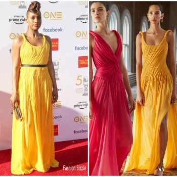 issa rae-in-oscar-de-la-renta-2019-naacp-image-awards