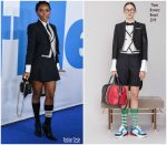 Janelle Monae  In Thom Browne @  'Little' LA Premiere
