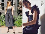 Jessica Alba In Brock Collection  Promoting 'LA's Finest'