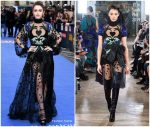 Lily Collins in Elie Saab @ 'Extremely Wicked, Shockingly Evil and Vile' London Premiere