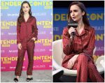 Lily Collins  In Etro @ Contenders Emmys Event In LA