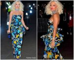 Rita Ora  In Vintage Yves Saint Laurent @ Marc Jacobs Wedding