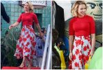 Scarlett Johansson In Proenza Schouler  @ Avengers Universe Unites