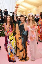 Diane von Furstenberg with Camila Coelho & Talita Von Furstenberg in  Diane Von Furstenberg  @ 2019 Met Gala