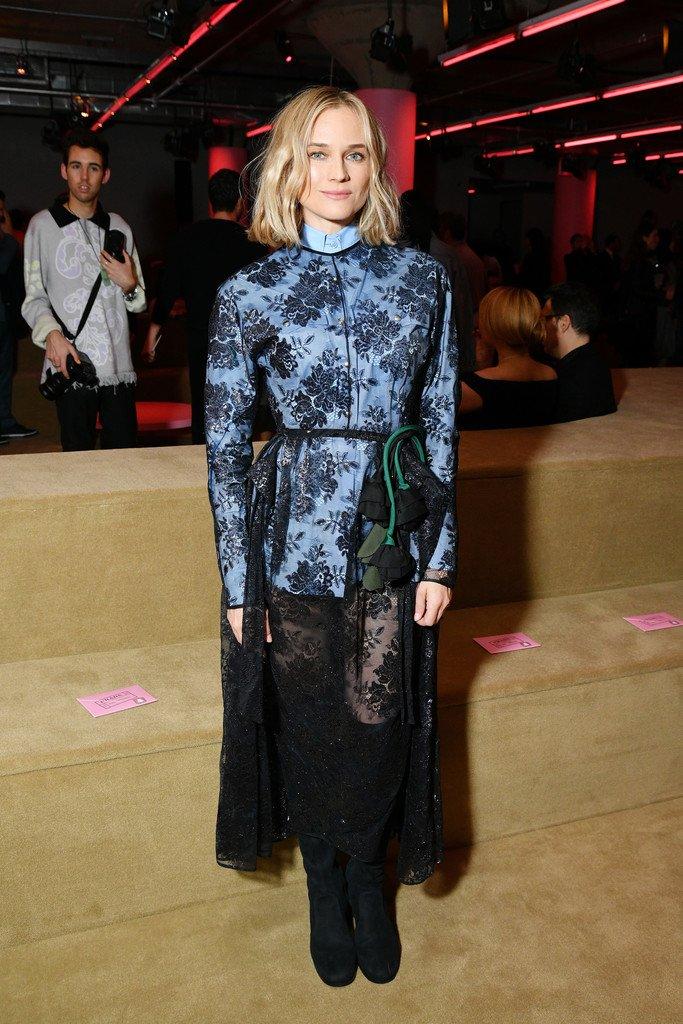 6a40258716 Diane Kruger in Prada   Prada Resort 2020 Fashion Show - Fashionsizzle