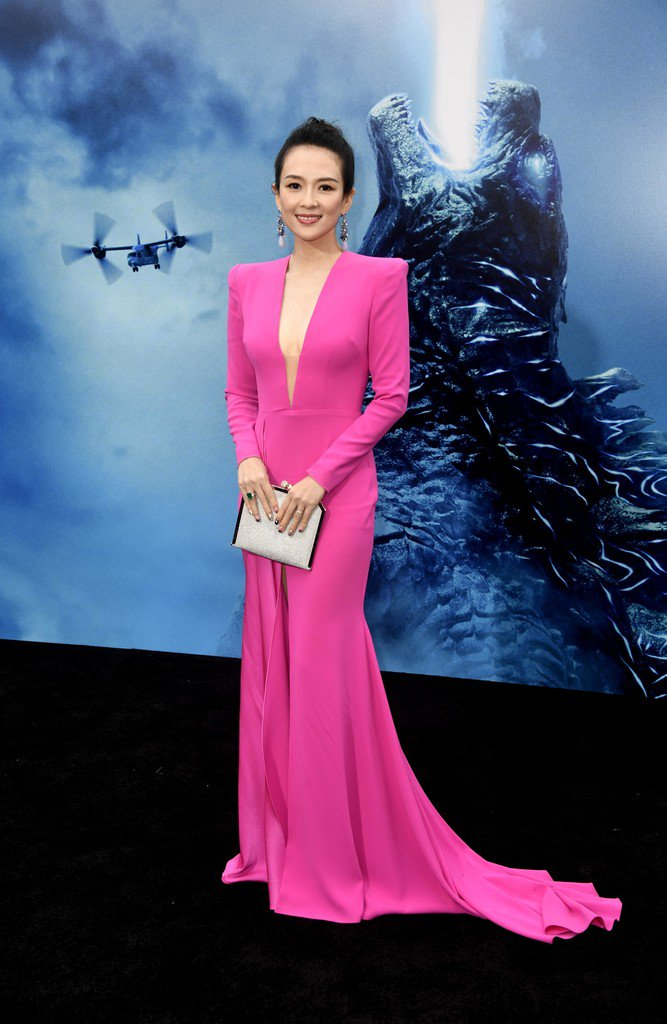"""zhang-ziyi-in-alex-perry-@""""godzilla:-king-of-the-monsters-la-premiere"""