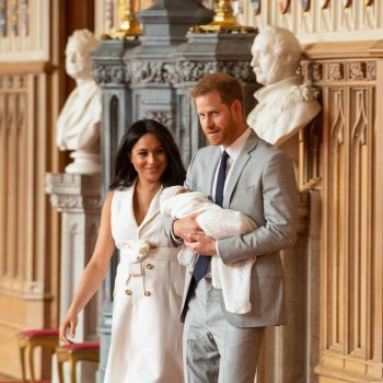 meghan,-duchess-of-sussex-(in-wales-bonner)-and-prince-harry,-duke-of-sussex-debuts-baby-@-windsor-castle