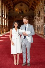 Meghan, Duchess of Sussex (in Wales Bonner) and Prince Harry, Duke of Sussex  Debuts Baby @ Windsor Castle