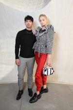 Sophie Turner in Louis Vuitton w/ Joe Jonas @ Louis Vuitton Cruise 2020 Fashion Show