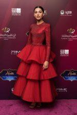 Naomi Scott in Armani Privé @ 'Aladdin' Amman Premiere
