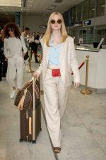 Elle Fanning Arriving  For Cannes 2019