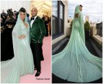 Alicia Keys & Swizz Beatz both  In  Carolina Herrera by Wes Gordon @ 2019 Met Gala