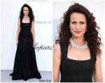 Andie MacDowell  In Alaïa @ 2019 amfAR Cannes Gala