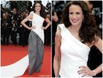 Andie MacDowell In Maticevski @ 'Pain And Glory (Dolor Y Gloria/ Douleur et Gloire)' Cannes Film Festival Premiere
