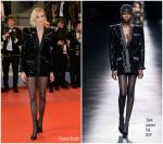 "Anja Rubik  In Saint Laurent by Anthony Vaccarello  @ ""'Lux Aeterna"" Cannes Film Festival Premiere"