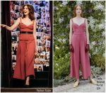 "Anne Hathaway  In Emilia Wickstead @  ""The Late Late Show With James Corden"""