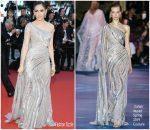 Araya A. Hargate in Zuhair Murad Haute Couture @ 'Rocket Man' Cannes Film Festival Premiere