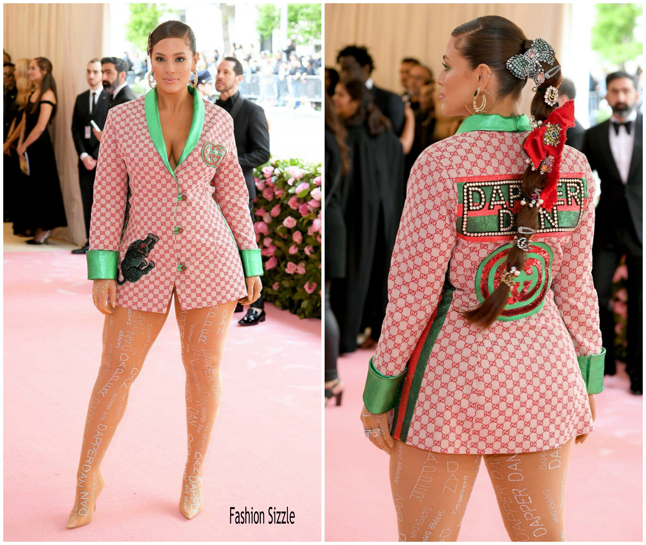 Ashley Graham In Gucci X Dapper Dan 2019 Met Gala Fashionsizzle