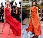 Bella Hadid In  Vintage Roberto Cavalli @ 'Pain And Glory (Dolor Y Gloria/ Douleur Et Glorie)' Cannes Film Festival Premiere