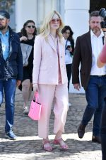 Elle Fanning  In  Sandro Suit @ Out In  Cannes 2019