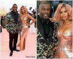Idris Elba & Sabrina Dhowre both In Atelier Versace  @ 2019 Met Gala