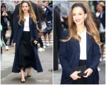 Jessica Alba @ Arrives at AOL's Build Series in New York