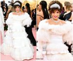 Joan Collins In Valentino Haute Couture  @ 2019 Met Gala